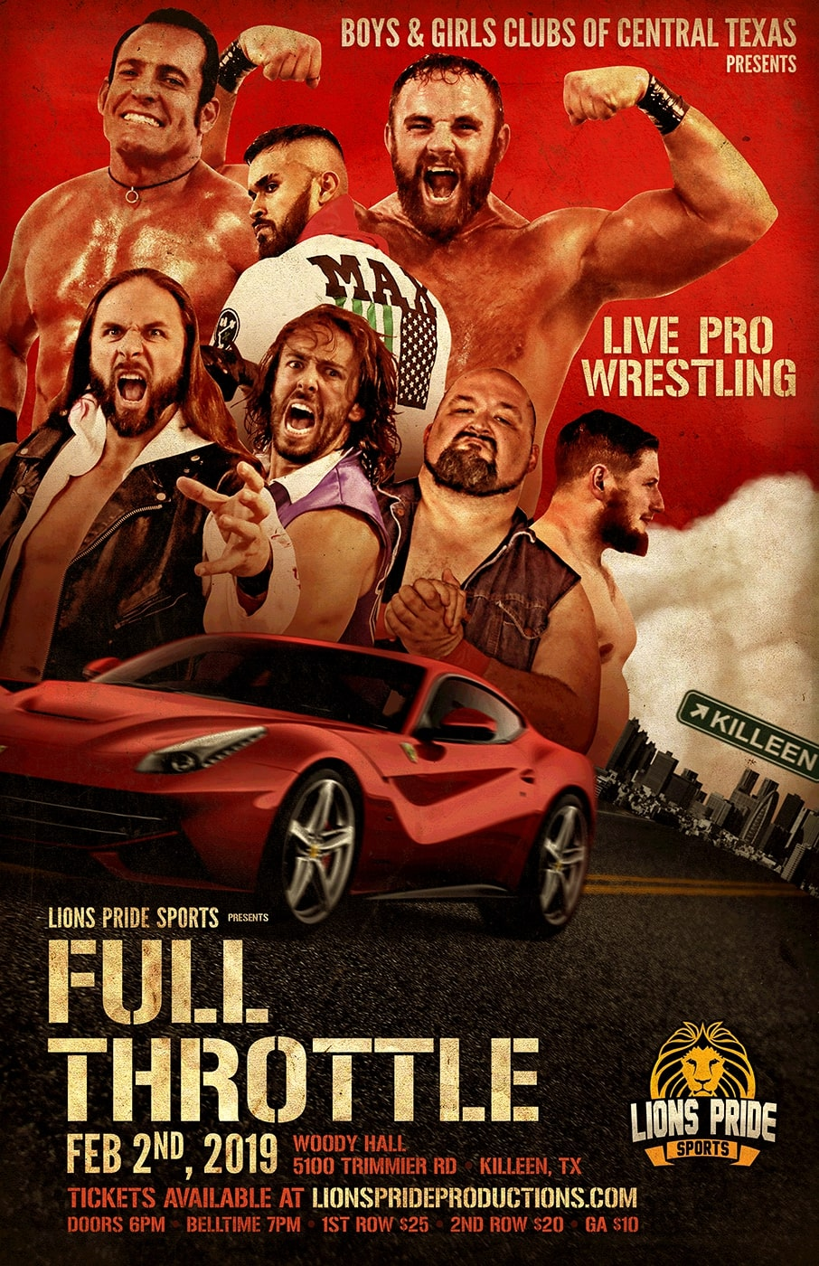 BGCTX Presents FULL THROTTLE - A Live Pro Wrestling Event on Februrary 2, 2019